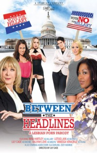Between The Headlines - A Lesbian Porn Parody